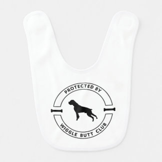 Baby Bib Protected by Wiggle Butt Club