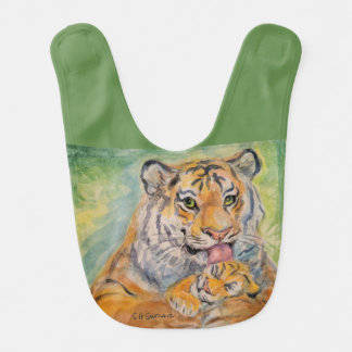Baby Bib With MamaTiger and Cub