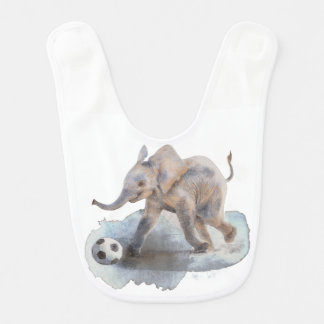 Baby Bib with Playful Elephant