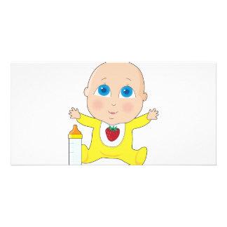 Baby Big Eyes Customised Photo Card