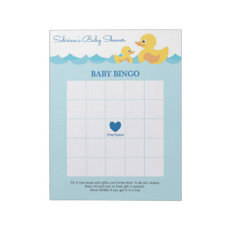 Baby Shower Notepads Baby Shower Memo Pads