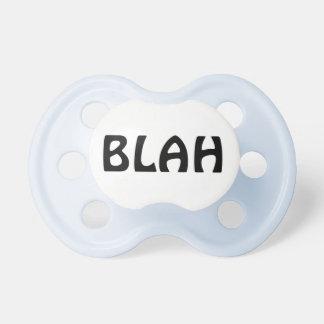 Baby binky says Blah! Dummy