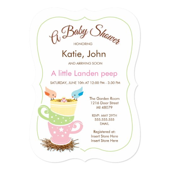 Baby Bird |  Girl Baby Shower Invitation