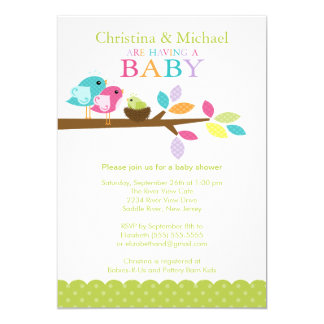 Baby Bird Nest Baby Shower Invitations