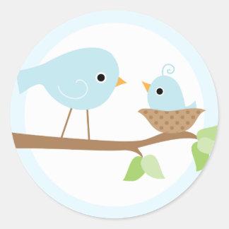 Baby Bird s Nest blue Stickers
