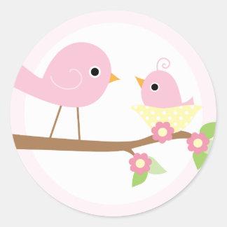 Baby Bird s Nest pink Stickers