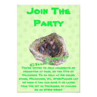 Baby Birds 13 Cm X 18 Cm Invitation Card