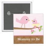 Baby Bird's Nest (pink) Badges