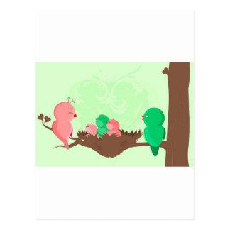 Baby birds postcard