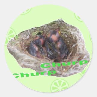 Baby Birds Round Sticker