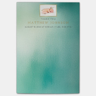 Baby Birth Annoucement Thank You Gift Favor Post-it® Notes