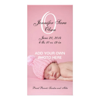 Baby Birth Announcement Photo Cards Girl
