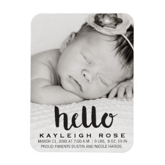 Baby Birth Announcement Photo Magnet