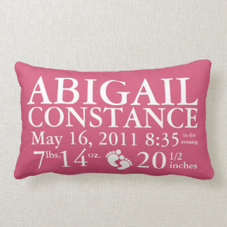 Baby Birth Announcement Pillow Personalized