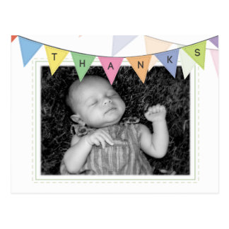 Baby Birth Announcement Thank You Photo Postcard