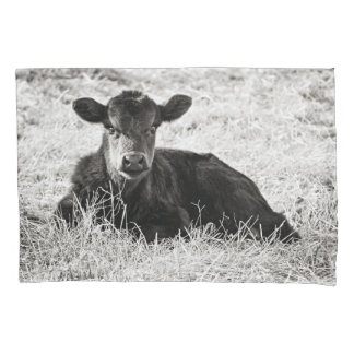 Baby Black & White Calf Pillow Case