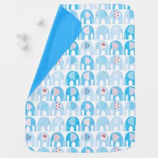 Baby Blanket - Blue Elephants