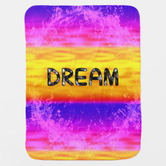 Baby Blanket-DREAM-multicolor Receiving Blanket