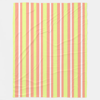 Baby-Blanket--Fun-Stripe's-Peach-Lime_Fleece--L Fleece Blanket
