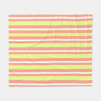 Baby-Blanket--Fun-Stripe's-Peach-Lime_Fleece-M Fleece Blanket