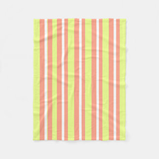 Baby-Blanket--Fun-Stripe's-Peach-Lime_Fleece-S Fleece Blanket