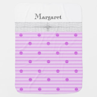 Baby-Blanket-Holy-Angel-Protection-Monogram-Pink Baby Blanket