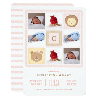 Baby Blanket Monogram Birth Announcement