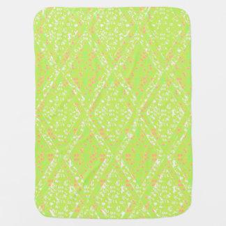 Baby-Blanket--Stylish-Diamond's & Lace-Green Baby Blanket