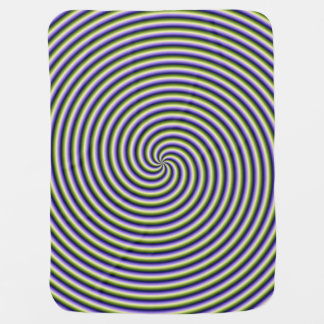 Baby Blanket  Swirl in Green Blue and Violet