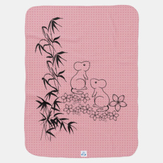 Baby Blanket with Cute Mice