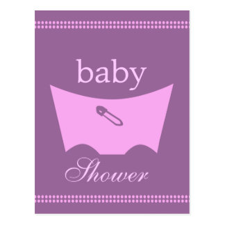 Baby block shower diaper decoration postcards