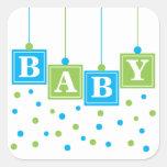 BABY Blocks Blue Green Boy Sticker