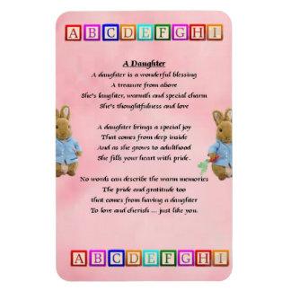 Baby Blocks - daughter Poem magnet