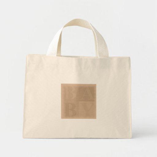 Baby Blocks Earth Tone Tote Bags