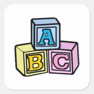 Baby blocks square sticker
