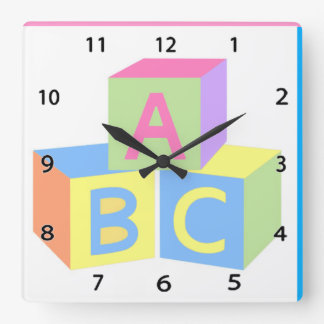 Baby Blocks Wall Clock
