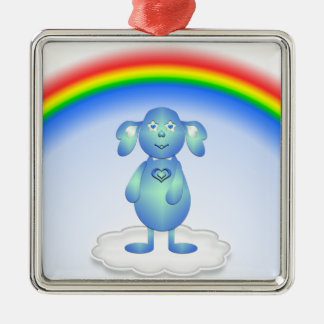 Baby Blu and the Rainbow Metal Ornament