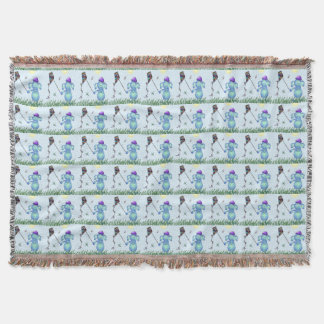 Baby Blu in the Park Throw Blanket