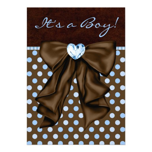 Baby Blue and Brown Baby Boy Shower