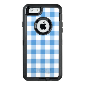 Baby Blue and White Buffalo Plaid OtterBox iPhone 6/6s Case