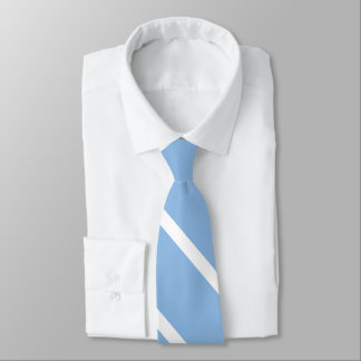 Baby Blue and White Custom University Stripe Tie