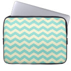 Baby Blue and Yellow Zig Zag Pattern Laptop Sleeve