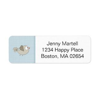 Baby Blue | Baby Shower | Address Return Address Label