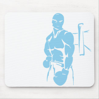 Baby Blue Boxing Mouse Pad