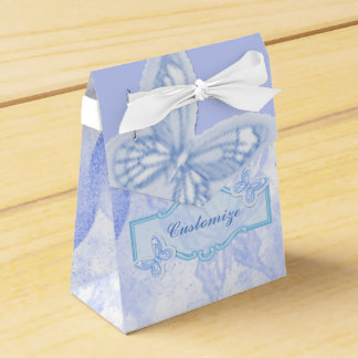 Baby Blue Butterfly Favor Box