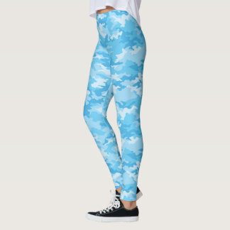 Baby Blue Camo Leggings