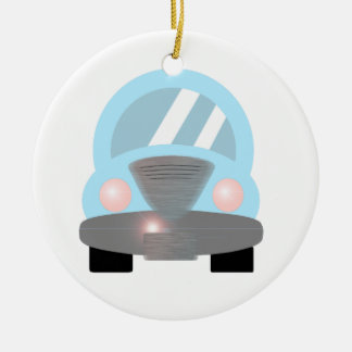 Baby Blue Car Ceramic Ornament