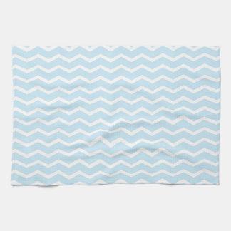 Baby Blue Chevron Pattern Tea Towel