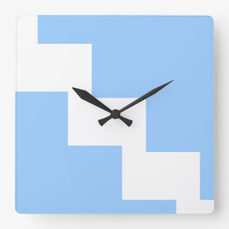 Baby Blue Chevron Wall Clock