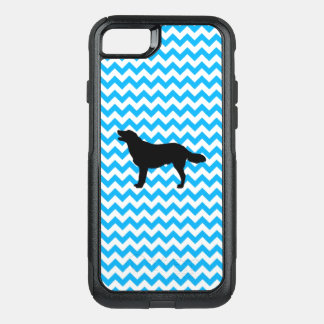 Baby Blue Chevron With Golden Silhouette OtterBox Commuter iPhone 8/7 Case